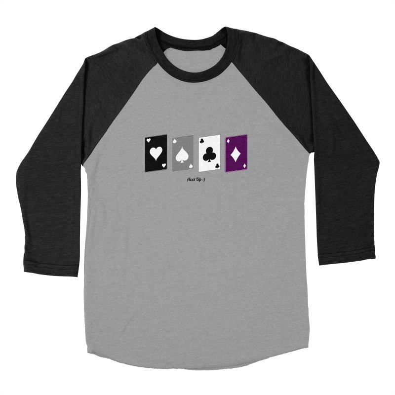Aces Up :) Women's Baseball Triblend Longsleeve T-Shirt by Cory & Mike's Artist Shop