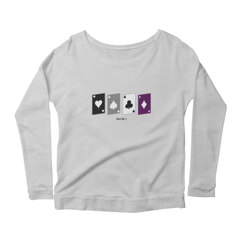 Aces Up :) Women's Scoop Neck Longsleeve T-Shirt by Cory & Mike's Artist Shop