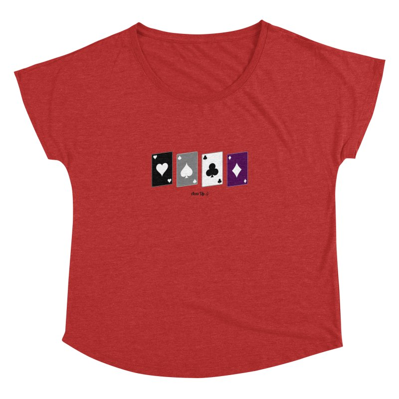 Aces Up :) Women's Dolman Scoop Neck by Cory & Mike's Artist Shop