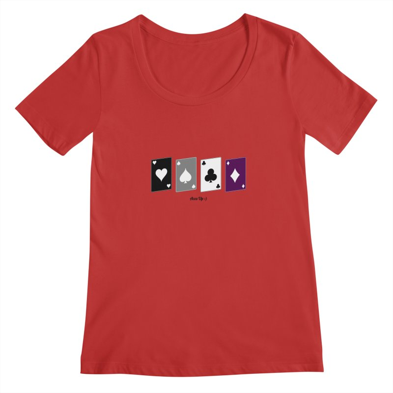 Aces Up :) Women's Regular Scoop Neck by Cory & Mike's Artist Shop