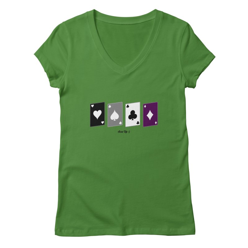 Aces Up :) Women's V-Neck by Cory & Mike's Artist Shop
