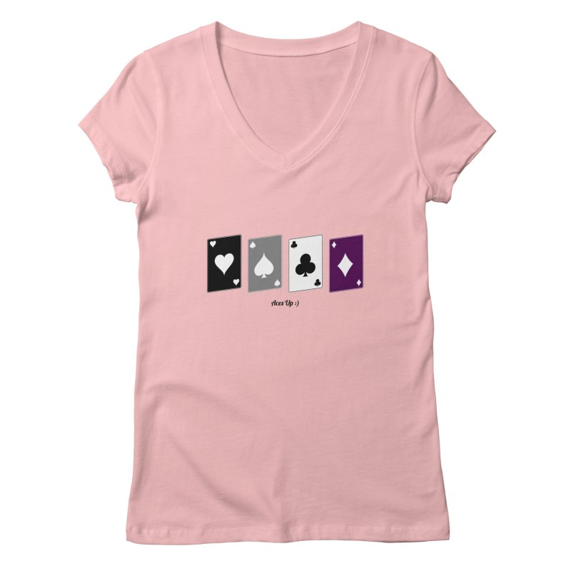Aces Up :) Women's Regular V-Neck by Cory & Mike's Artist Shop