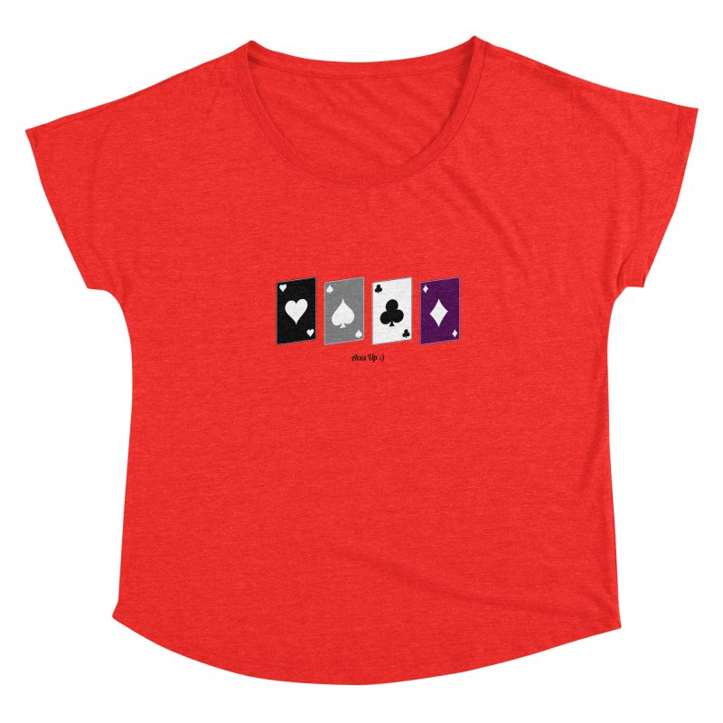 Aces Up :) Women's Scoop Neck by Cory & Mike's Artist Shop