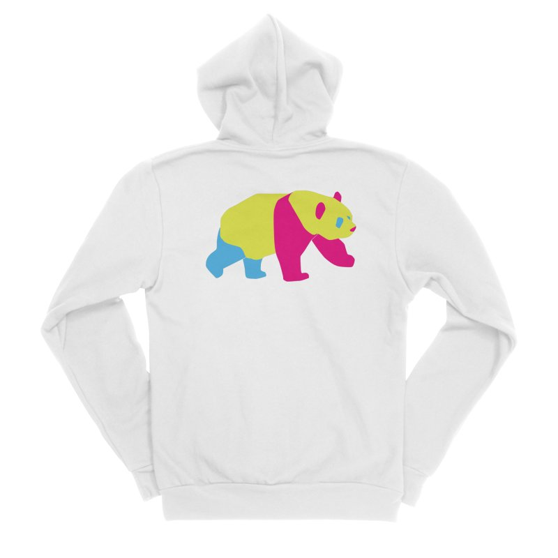 Pride PANda Men's Sponge Fleece Zip-Up Hoody by Cory & Mike's Artist Shop