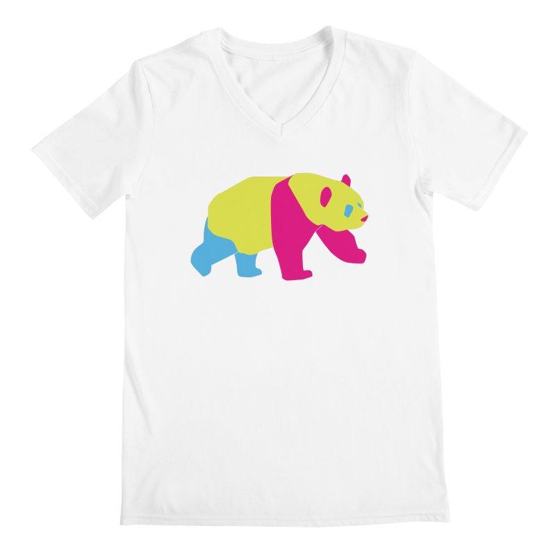 Pride PANda Men's Regular V-Neck by Cory & Mike's Artist Shop