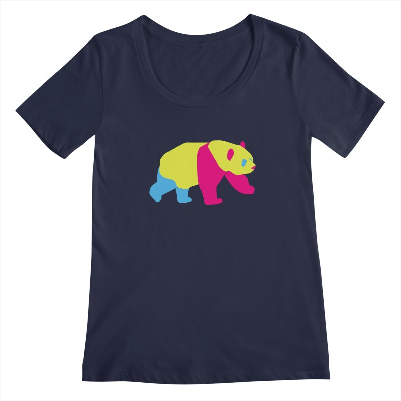 Pride PANda Women's Regular Scoop Neck by Cory & Mike's Artist Shop