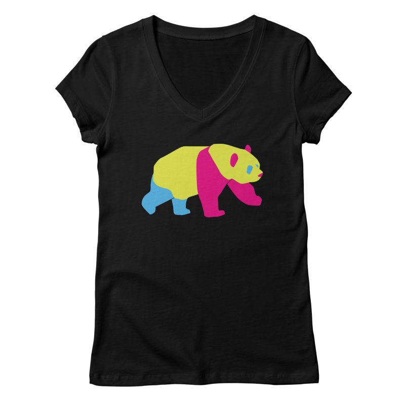 Pride PANda Women's V-Neck by Cory & Mike's Artist Shop