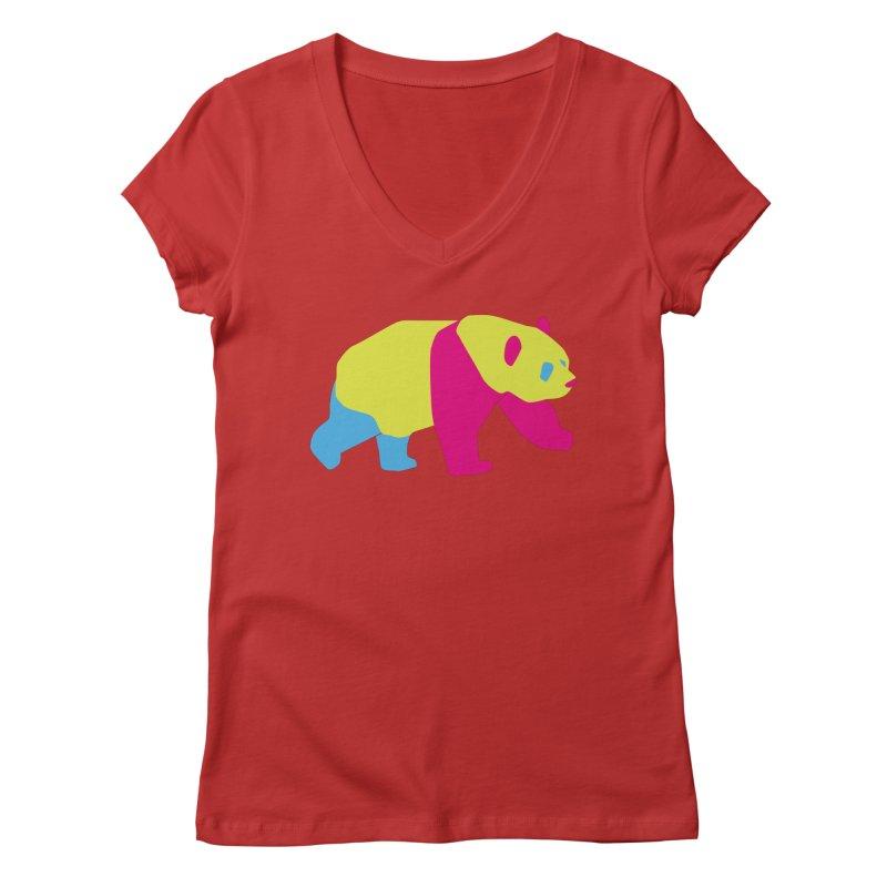 Pride PANda Women's V-Neck by Cory & Mike's Artist Shop
