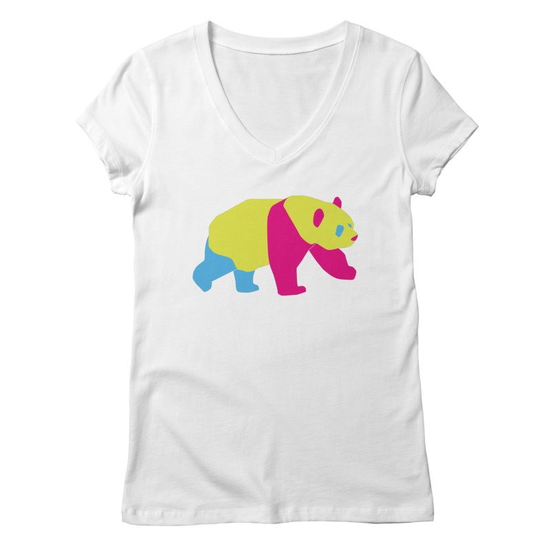 Pride PANda Women's Regular V-Neck by Cory & Mike's Artist Shop