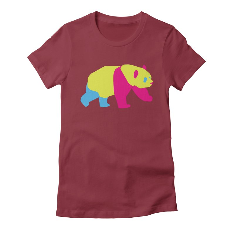 Pride PANda Women's Fitted T-Shirt by Cory & Mike's Artist Shop