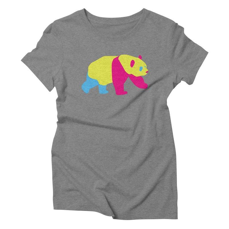 Pride PANda Women's Triblend T-Shirt by Cory & Mike's Artist Shop