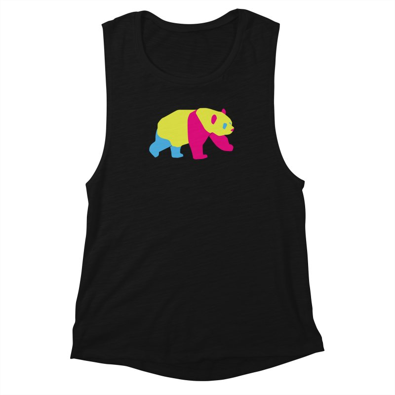 Pride PANda Women's Muscle Tank by Cory & Mike's Artist Shop