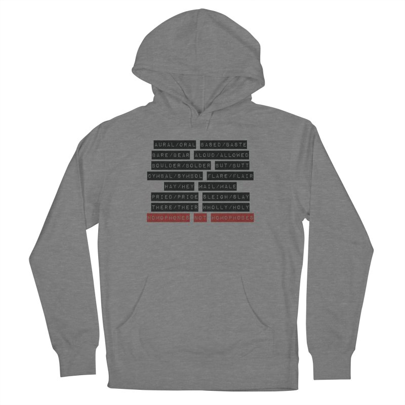 Homophones Men's French Terry Pullover Hoody by Cory & Mike's Artist Shop