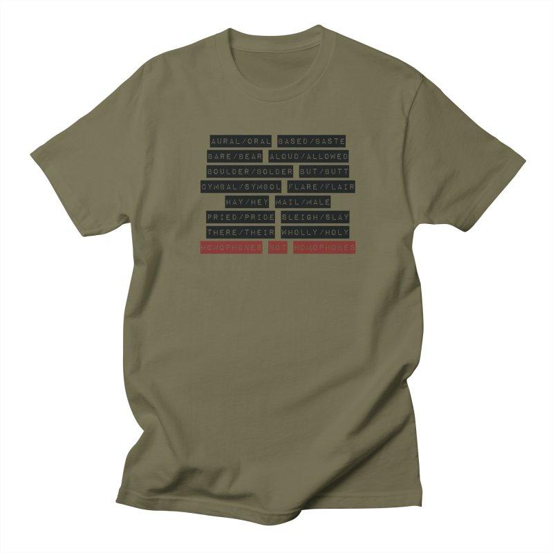 Homophones Women's Regular Unisex T-Shirt by Cory & Mike's Artist Shop