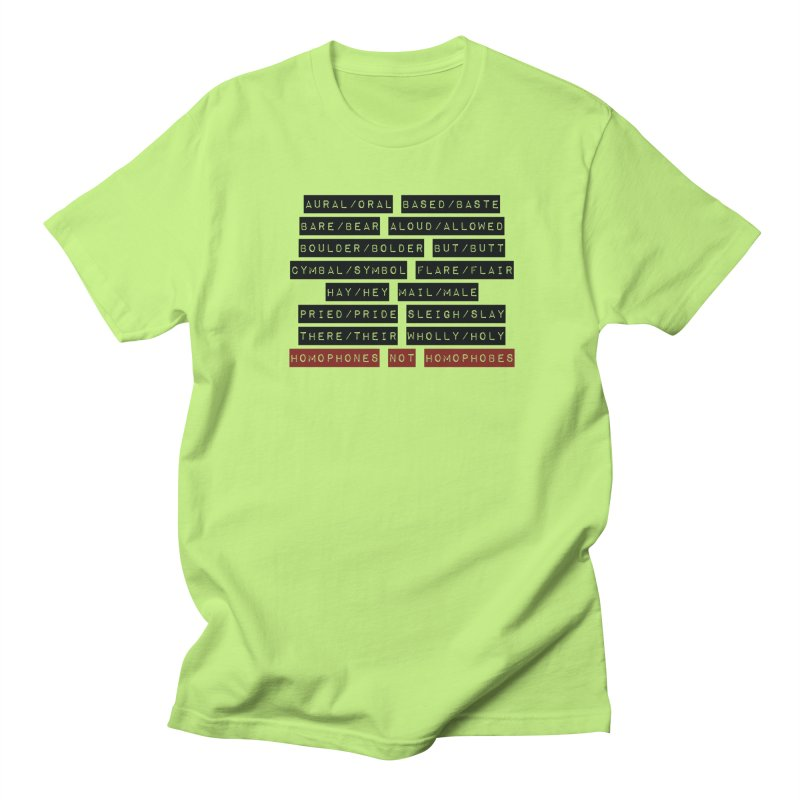 Homophones Men's Regular T-Shirt by Cory & Mike's Artist Shop