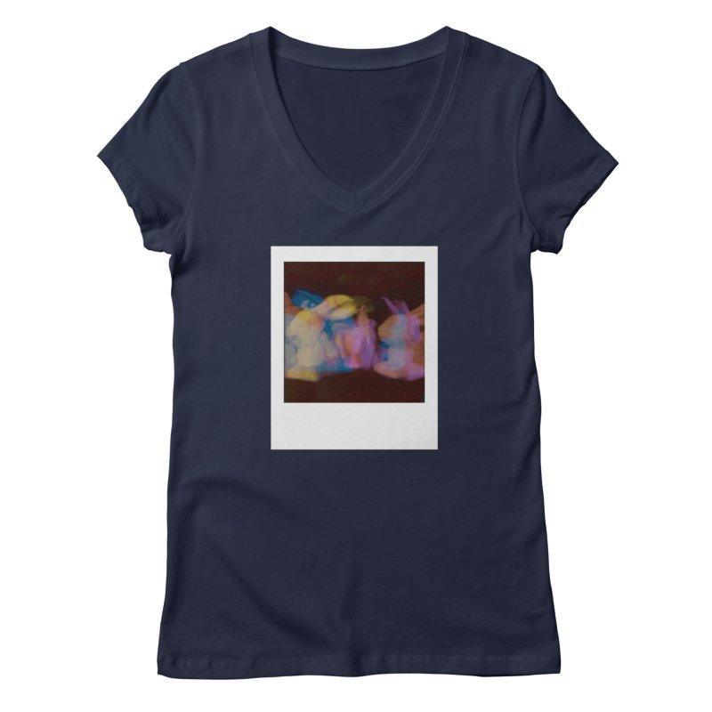 Multiply Like Rabbits Women's Regular V-Neck by Cory & Mike's Artist Shop