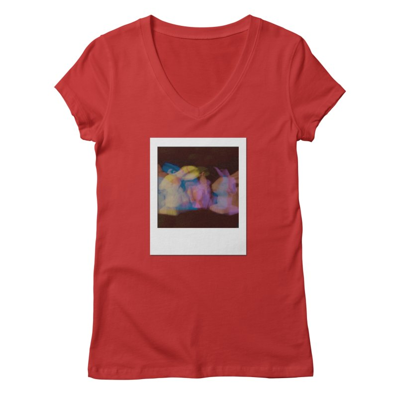 Multiply Like Rabbits Women's V-Neck by Cory & Mike's Artist Shop