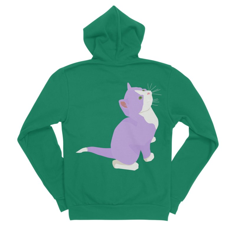 GQ the Genderqueer Kitten Men's Sponge Fleece Zip-Up Hoody by Cory & Mike's Artist Shop