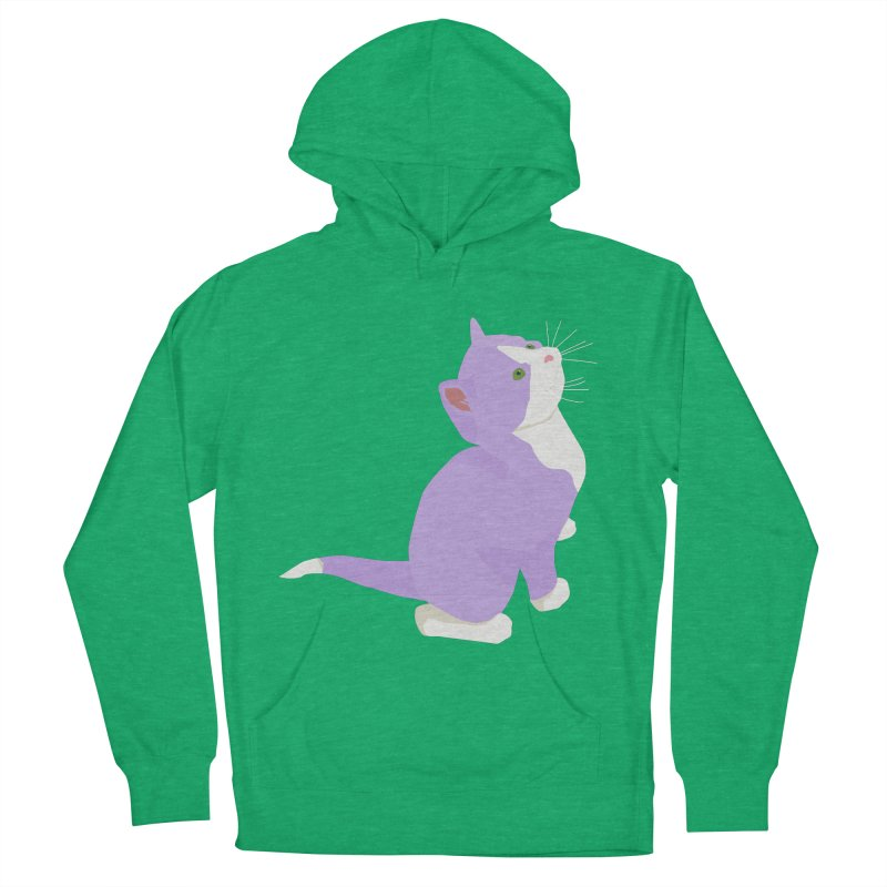 GQ the Genderqueer Kitten Men's French Terry Pullover Hoody by Cory & Mike's Artist Shop