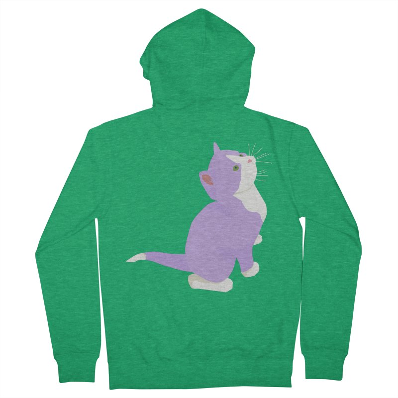 GQ the Genderqueer Kitten Men's French Terry Zip-Up Hoody by Cory & Mike's Artist Shop