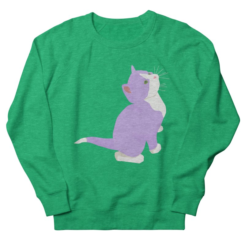 GQ the Genderqueer Kitten Men's French Terry Sweatshirt by Cory & Mike's Artist Shop