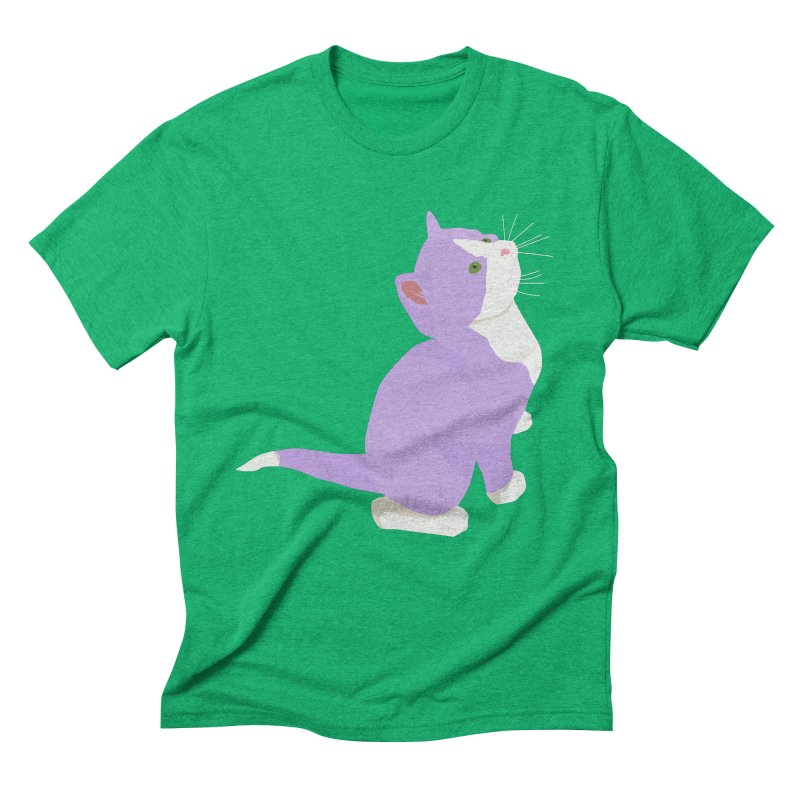 GQ the Genderqueer Kitten Men's Triblend T-Shirt by Cory & Mike's Artist Shop
