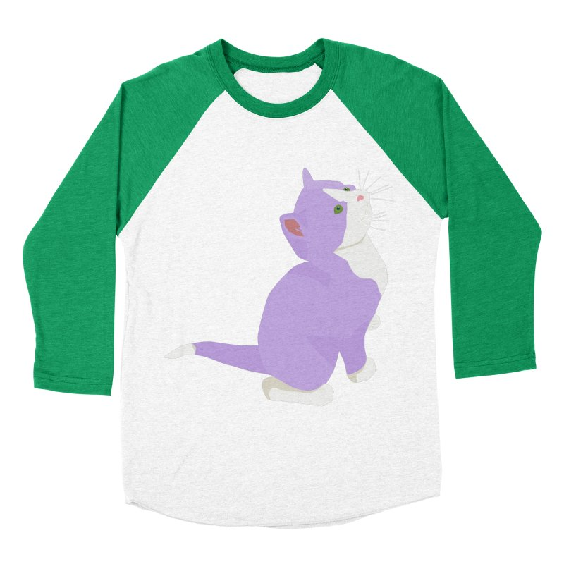 GQ the Genderqueer Kitten Women's Baseball Triblend Longsleeve T-Shirt by Cory & Mike's Artist Shop