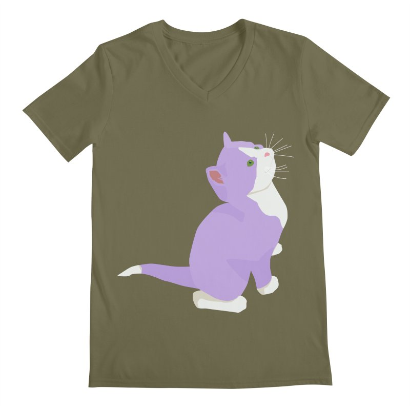 GQ the Genderqueer Kitten Men's Regular V-Neck by Cory & Mike's Artist Shop
