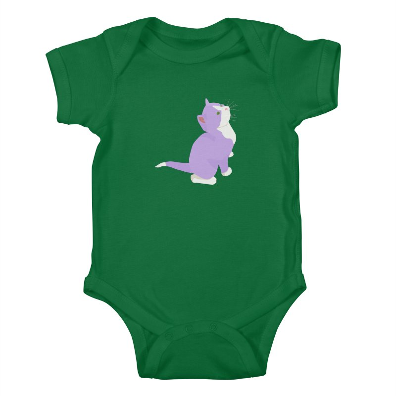 GQ the Genderqueer Kitten Kids Baby Bodysuit by Cory & Mike's Artist Shop