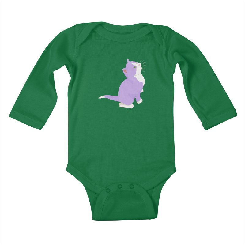 GQ the Genderqueer Kitten Kids Baby Longsleeve Bodysuit by Cory & Mike's Artist Shop