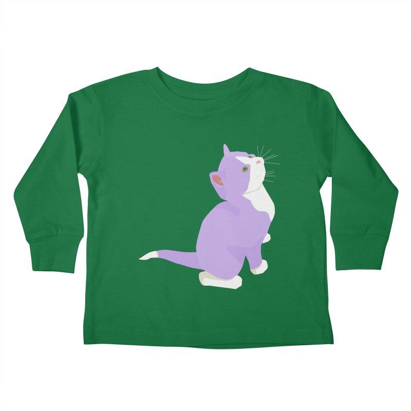GQ the Genderqueer Kitten Kids Toddler Longsleeve T-Shirt by Cory & Mike's Artist Shop