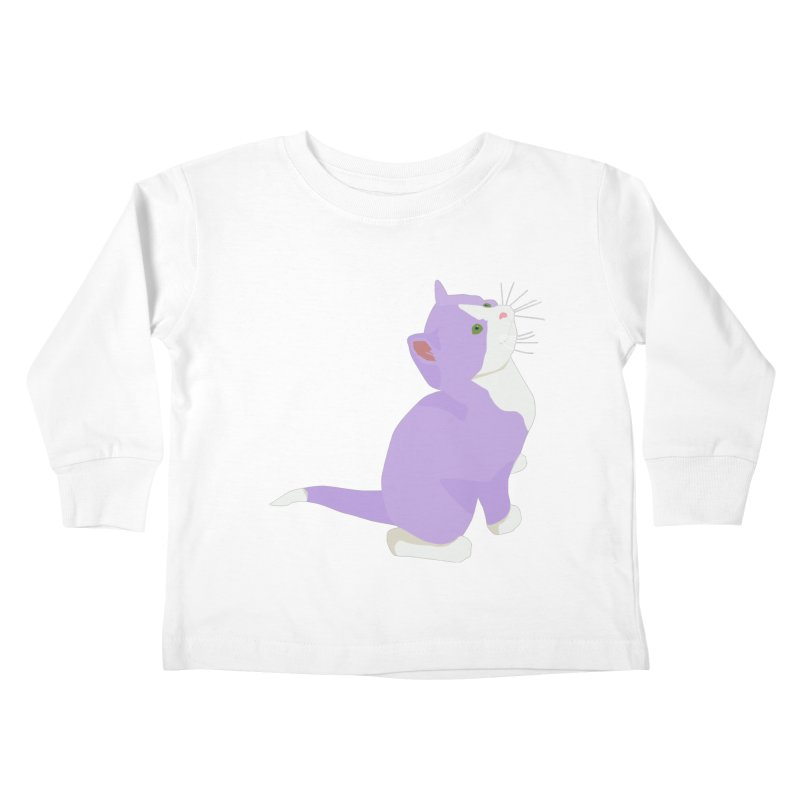 GQ the Genderqueer Kitten Kids Toddler Longsleeve T-Shirt by Cory & Mike's Artist Shop