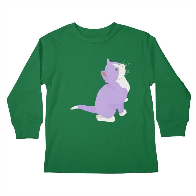 GQ the Genderqueer Kitten Kids Longsleeve T-Shirt by Cory & Mike's Artist Shop