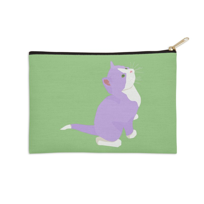 GQ the Genderqueer Kitten Accessories Zip Pouch by Cory & Mike's Artist Shop