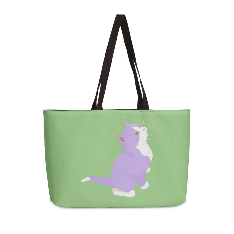 GQ the Genderqueer Kitten Accessories Weekender Bag Bag by Cory & Mike's Artist Shop