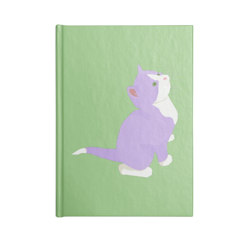 GQ the Genderqueer Kitten Accessories Blank Journal Notebook by Cory & Mike's Artist Shop