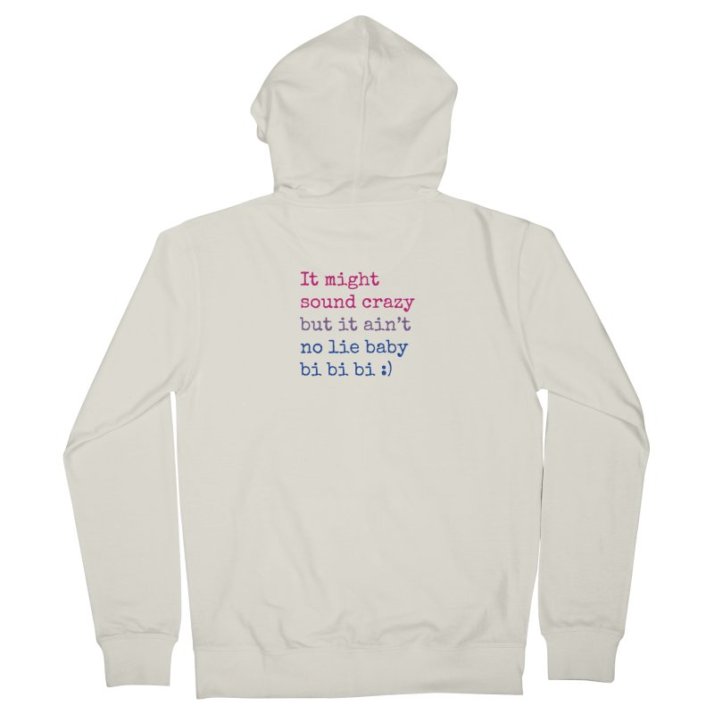 Bi Bi Bi Women's French Terry Zip-Up Hoody by Cory & Mike's Artist Shop