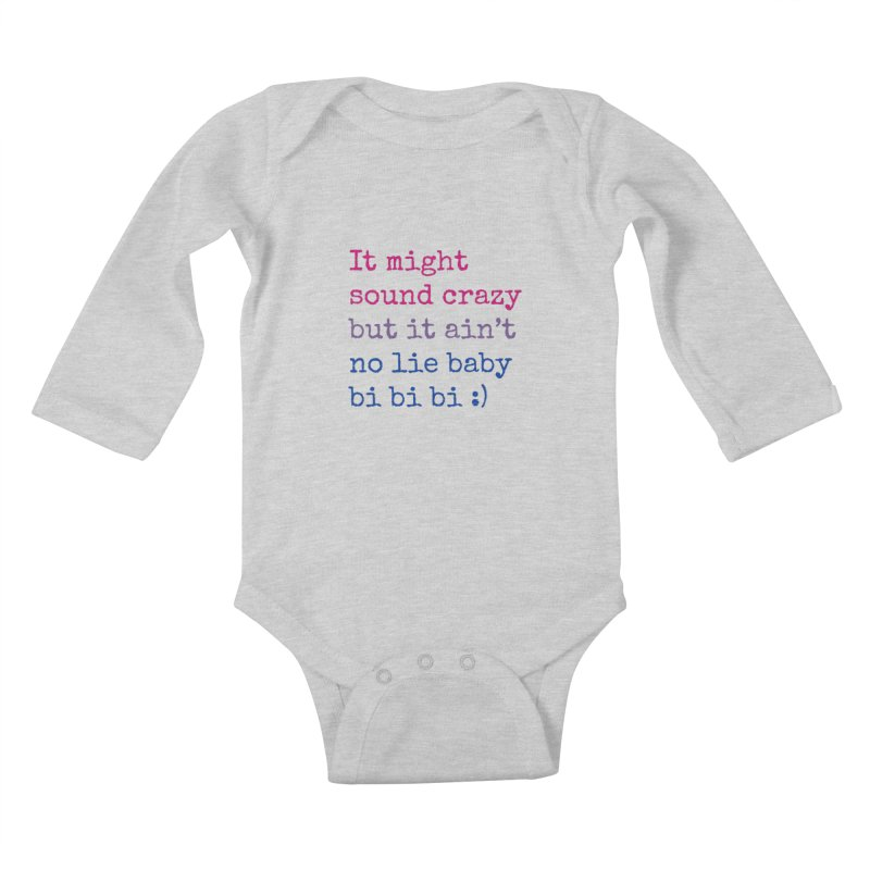 Bi Bi Bi Kids Baby Longsleeve Bodysuit by Cory & Mike's Artist Shop