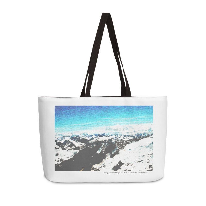 Every Moment of Light and Dark is a Miracle Accessories Weekender Bag Bag by Cory & Mike's Artist Shop