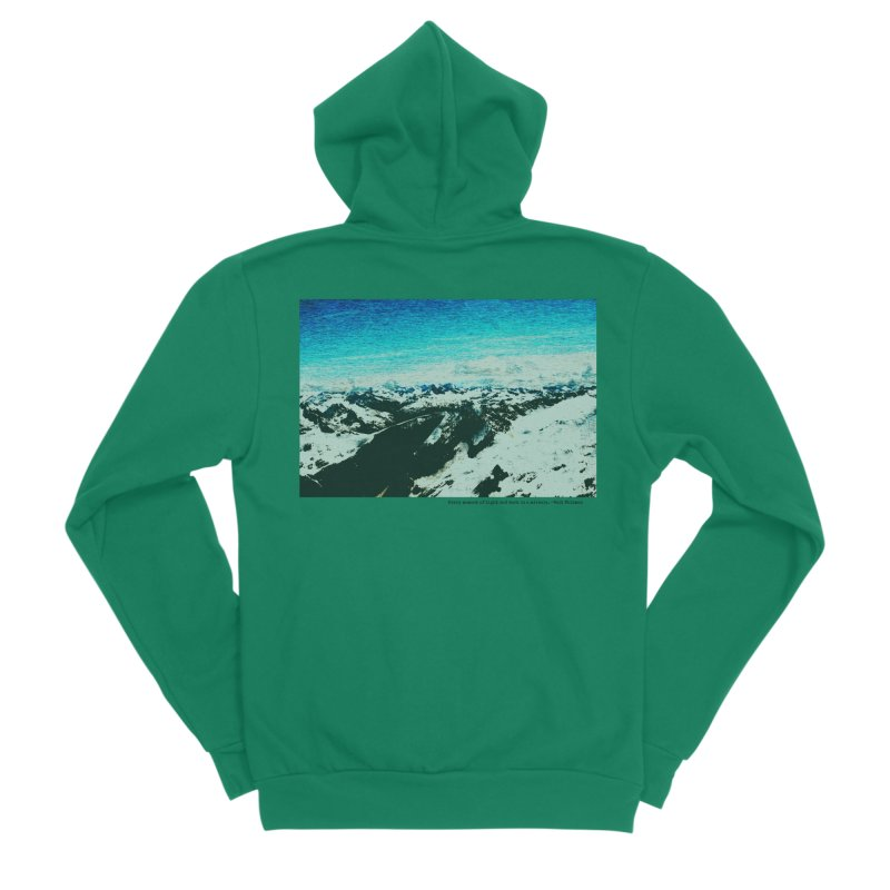 Every Moment of Light and Dark is a Miracle Women's Sponge Fleece Zip-Up Hoody by Cory & Mike's Artist Shop