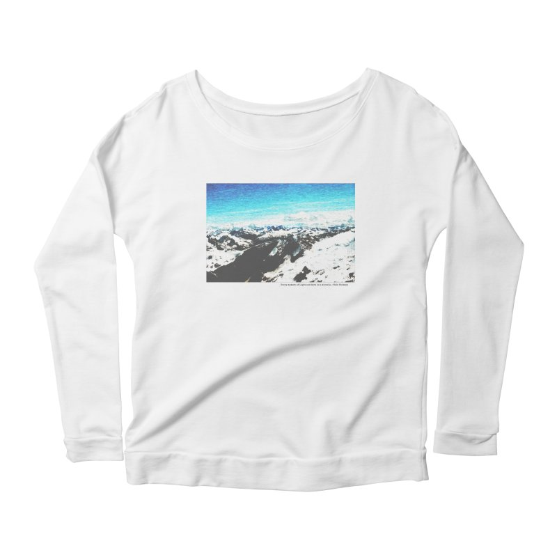 Every Moment of Light and Dark is a Miracle Women's Scoop Neck Longsleeve T-Shirt by Cory & Mike's Artist Shop