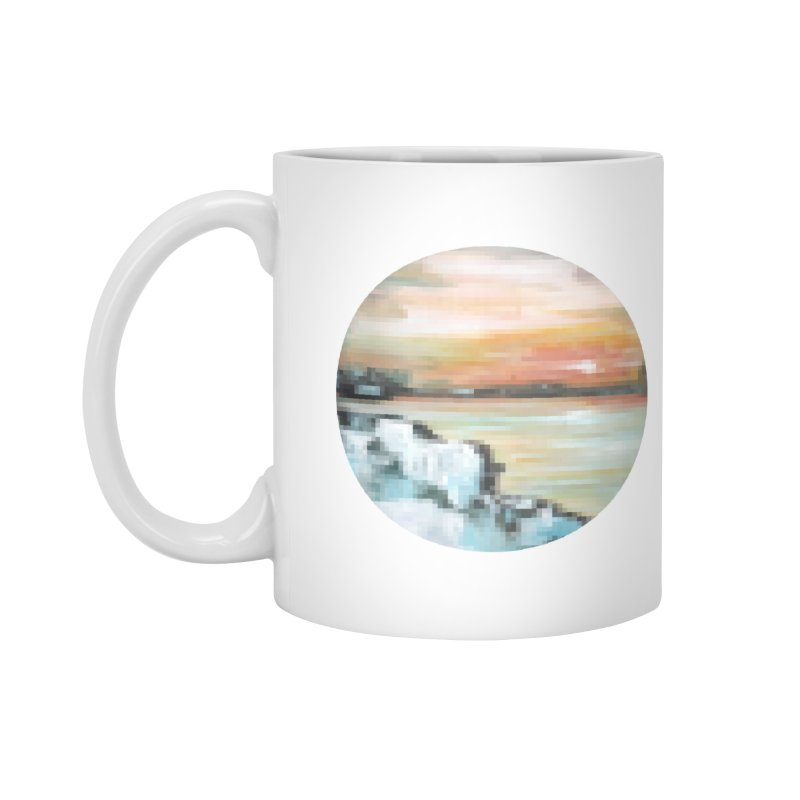 Ice Pixel Planet Accessories Standard Mug by Cory & Mike's Artist Shop
