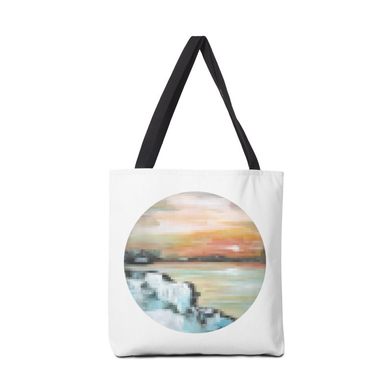 Ice Pixel Planet Accessories Tote Bag Bag by Cory & Mike's Artist Shop