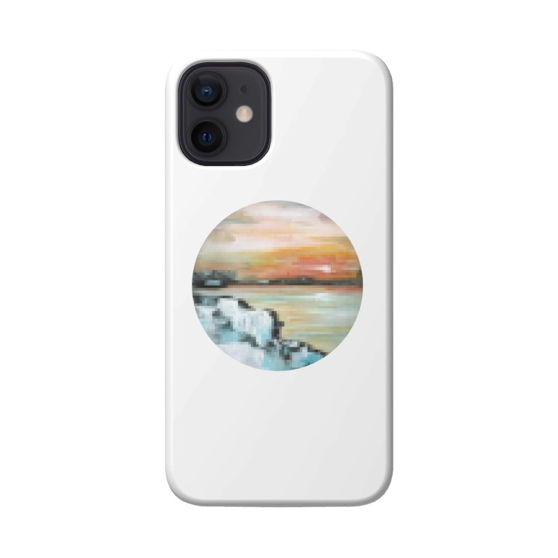 Ice Pixel Planet Accessories Phone Case by Cory & Mike's Artist Shop