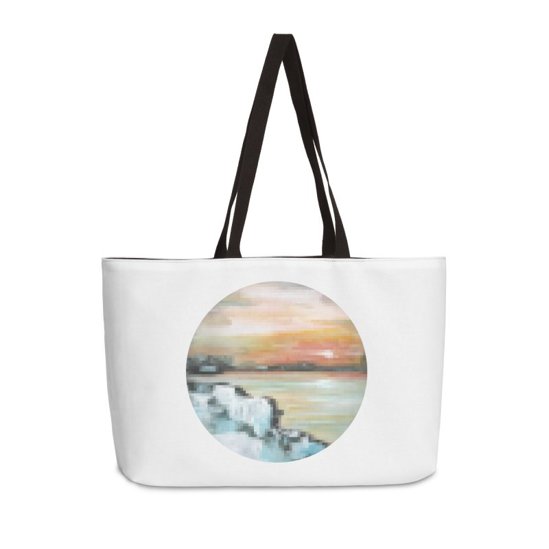 Ice Pixel Planet Accessories Weekender Bag Bag by Cory & Mike's Artist Shop