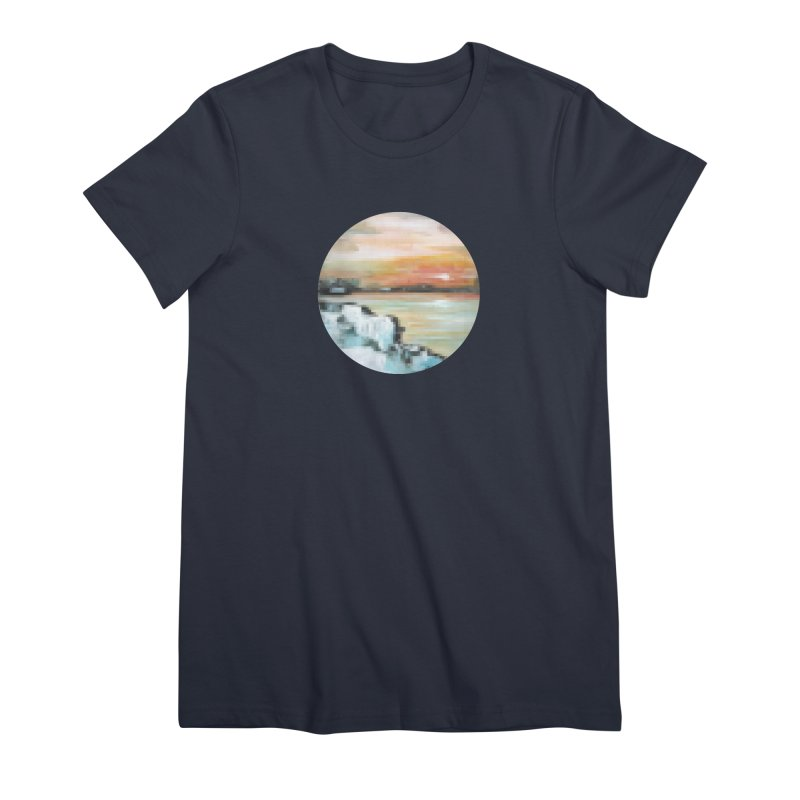 Ice Pixel Planet Women's Premium T-Shirt by Cory & Mike's Artist Shop