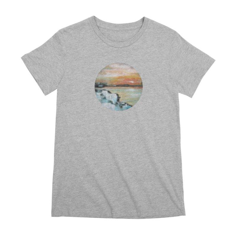 Ice Pixel Planet Women's Premium T-Shirt by Cory & Mike's Artist Shop