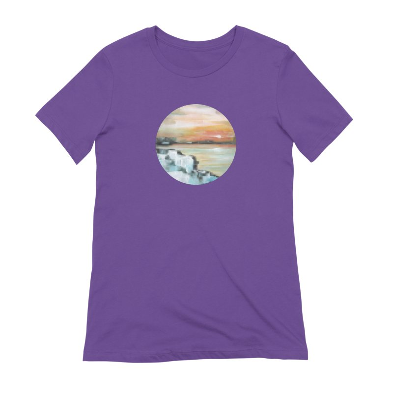 Ice Pixel Planet Women's Extra Soft T-Shirt by Cory & Mike's Artist Shop