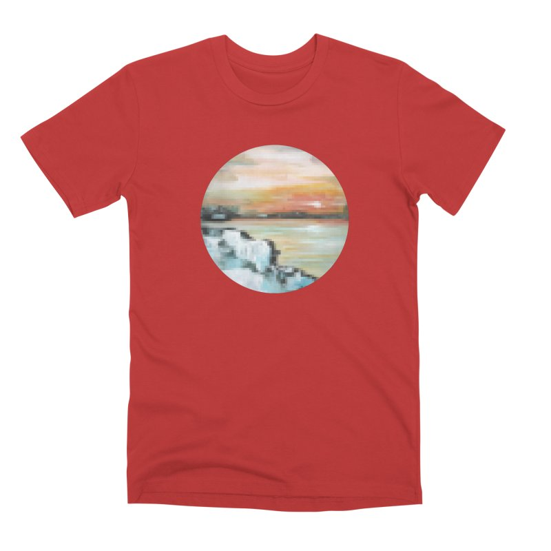 Ice Pixel Planet Men's Premium T-Shirt by Cory & Mike's Artist Shop