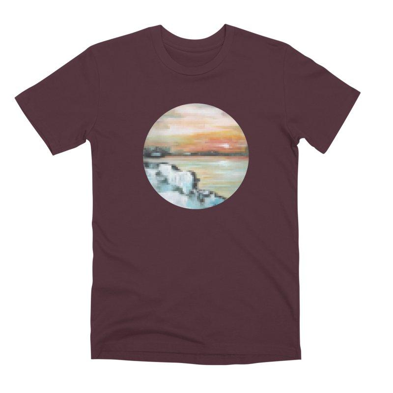 Ice Pixel Planet Men's Premium T-Shirt by Cory & Mike's Artist Shop
